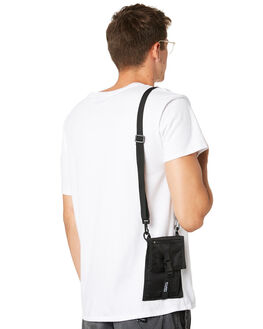 BLACK MENS ACCESSORIES STUSSY BAGS + BACKPACKS - ST793012BLK