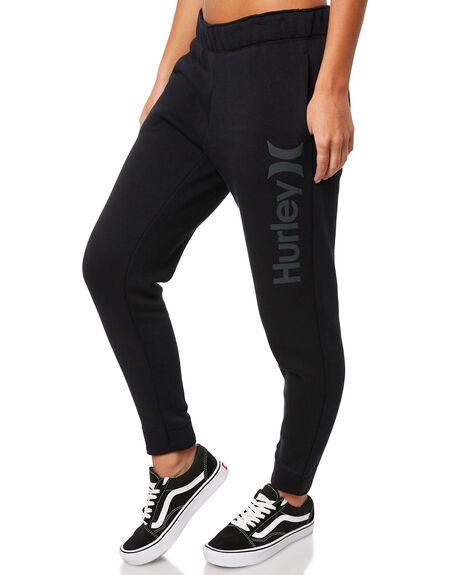 BLACK WOMENS CLOTHING HURLEY PANTS - AJ3566010