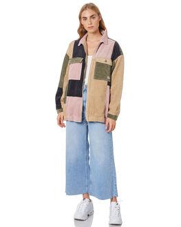 CAMEL WOMENS CLOTHING STUSSY JACKETS - ST106712CAML