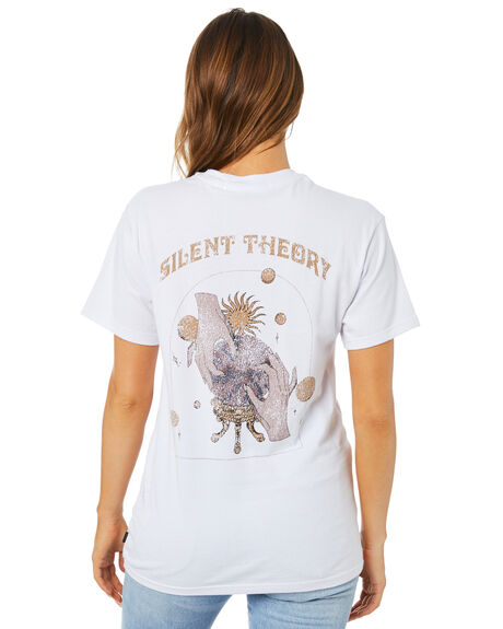 WHITE WOMENS CLOTHING SILENT THEORY TEES - 6073003WHT