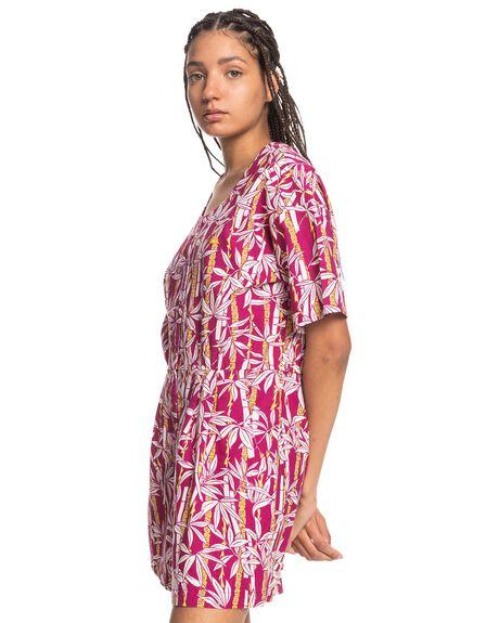 RASPERRY RADIANCE JU WOMENS CLOTHING QUIKSILVER PLAYSUITS + OVERALLS - EQWWD03015-MQY6