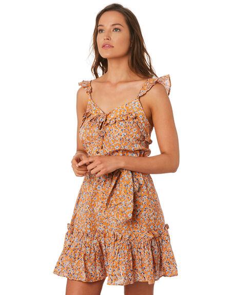 ORANGE WOMENS CLOTHING TIGERLILY DRESSES - T392464ORA