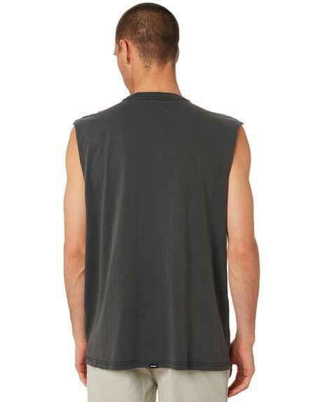 MERCH BLACK MENS CLOTHING THRILLS SINGLETS - TR9-116BMMCBLK