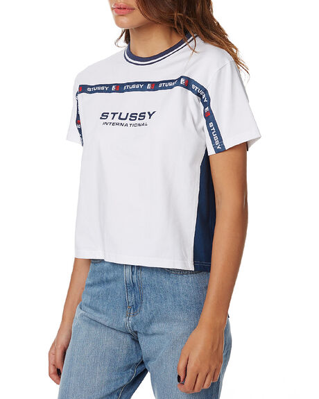 WHITE WOMENS CLOTHING STUSSY TEES - ST175111WHT