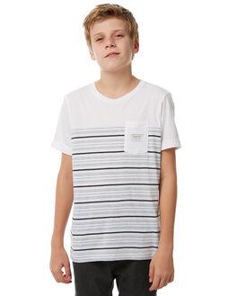 WHITE KIDS BOYS QUIKSILVER TEES - EQBKT03171WBB4