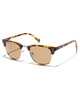GLOSS BROWN TORT MENS ACCESSORIES CARVE SUNGLASSES - 2532GBRN