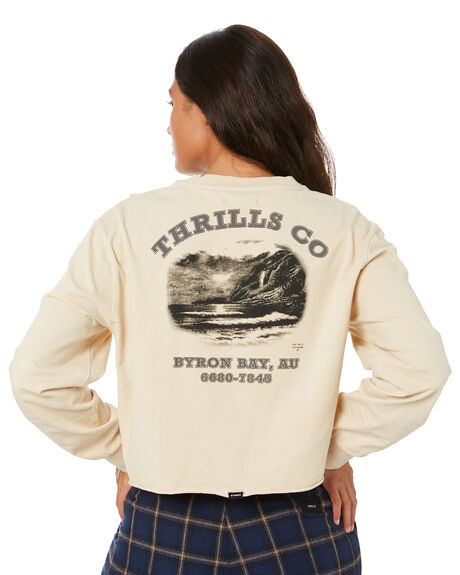 THRIFT WHITE WOMENS CLOTHING THRILLS TEES - WTW20-174ATHWHT
