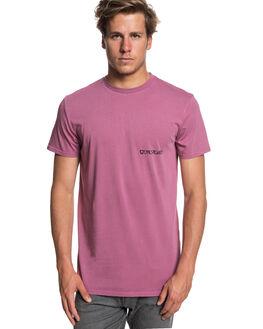MELLOW MAUVE MENS CLOTHING QUIKSILVER TEES - EQYZT05008MMB0