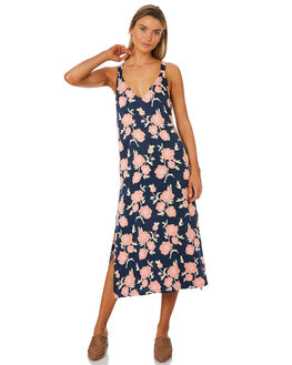 NAVY MONTANA WOMENS CLOTHING MLM LABEL DRESSES - MLM430CNFLO