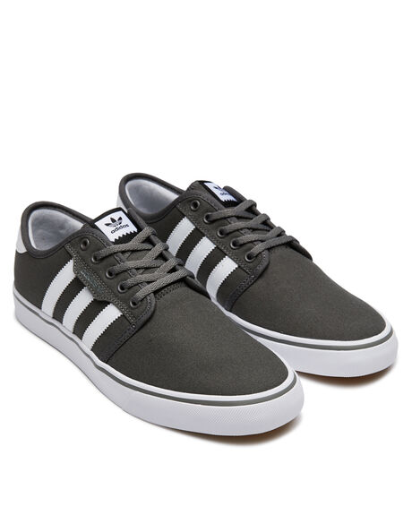 ASH WHITE BLACK MENS FOOTWEAR ADIDAS SKATE SHOES - SSAQ8528ASHM