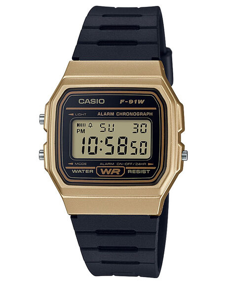 BLACK GOLD MENS ACCESSORIES CASIO WATCHES - F91WM-9ABLKGD