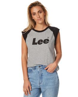 BLACK GREY WOMENS CLOTHING LEE SINGLETS - L-651430-CB5