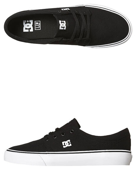 BLACK WHITE MENS FOOTWEAR DC SHOES SNEAKERS - ADYS300126BKW