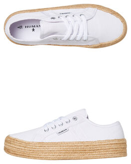 WHITE CANVAS WOMENS FOOTWEAR HUMAN FOOTWEAR SNEAKERS - CHARWCNVS