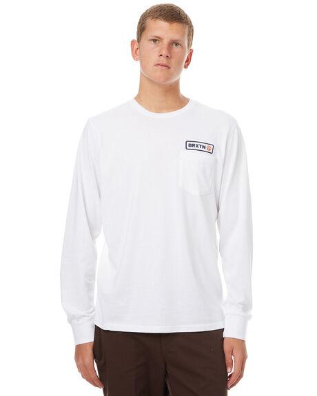 WHITE MENS CLOTHING BRIXTON TEES - 06621WHITE