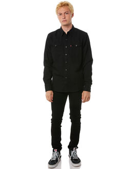 BLACK MENS CLOTHING LEVI'S SHIRTS - 65816-0216