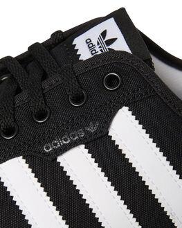 BLACK WHITE MENS FOOTWEAR ADIDAS SKATE SHOES - SSF37427BLKM