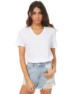 WHITE WOMENS CLOTHING ASSEMBLY TEES - AW-S1704WHT