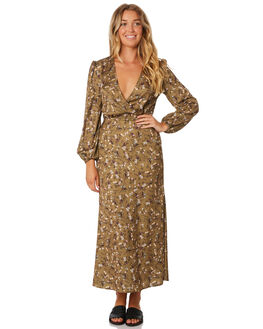 KHAKI FLORAL WOMENS CLOTHING THE FIFTH LABEL DRESSES - 40190644-2FLORA