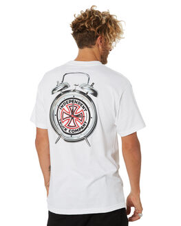 WHITE MENS CLOTHING INDEPENDENT TEES - IN-MTC4204WHT