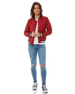 RED DAHLIA WOMENS CLOTHING ELEMENT JACKETS - 286457RDL