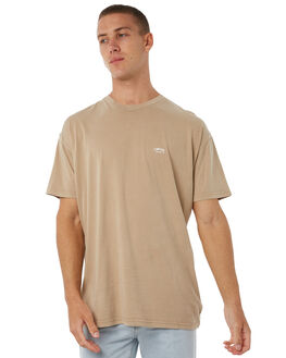 WASHED TAN MENS CLOTHING STUSSY TEES - ST071000WTAN