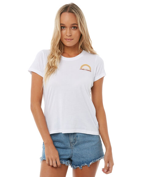 WHITE WOMENS CLOTHING AFENDS TEES - W181004WHT