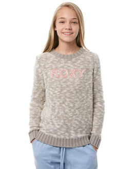 HERITAGE HEATHER KIDS GIRLS ROXY JUMPERS - ERGSW03042SGRH