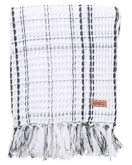 BLACK WHITE CHECK WOMENS ACCESSORIES KIP AND CO HOME + BODY - AW201131BLKWH
