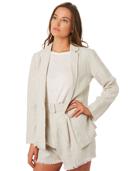 SAND WOMENS CLOTHING THE HIDDEN WAY JACKETS - H8201381SAND