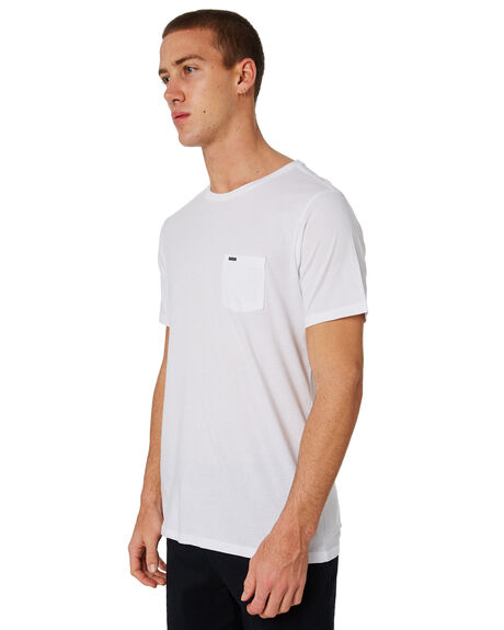 WHITE MENS CLOTHING RIP CURL TEES - CTELL21000