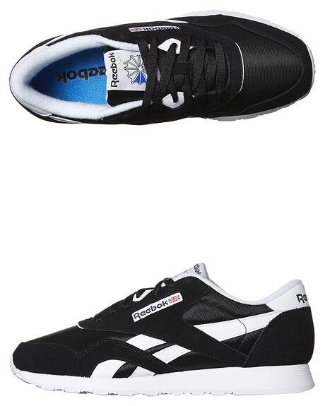 c6144d603e2 Reebok Classic Nylon Womens Sneaker - Black White