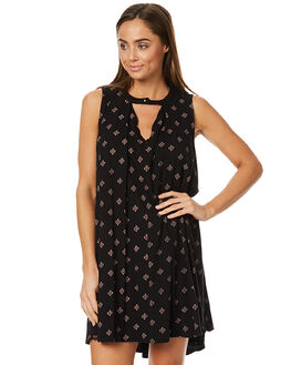 BLACK WOMENS CLOTHING HURLEY DRESSES - AGDSMACE00A