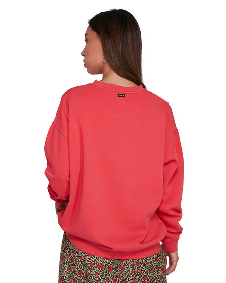 BRIGHT RED WOMENS CLOTHING RVCA JUMPERS - RV-R205151-BE3