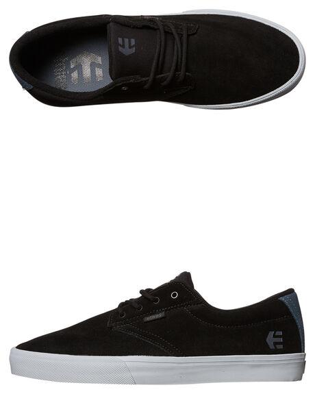 BLACK GREY MENS FOOTWEAR ETNIES SKATE SHOES - 4101000449-570