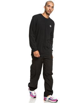 BLACK MENS CLOTHING DC SHOES TEES - UDYZT03587-KVJ0