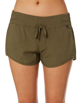 OLIVE CANVAS WOMENS CLOTHING HURLEY SHORTS - AR4086-395