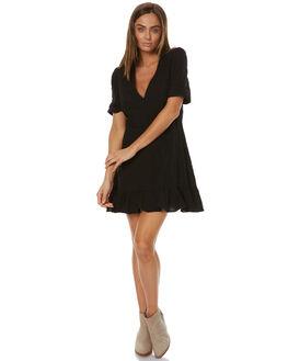 BLACK WOMENS CLOTHING AUGUSTE DRESSES - AMH2-17254-BKBK