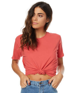 JELLY RED WOMENS CLOTHING SILENT THEORY TEES - SS4083024JLYRDW