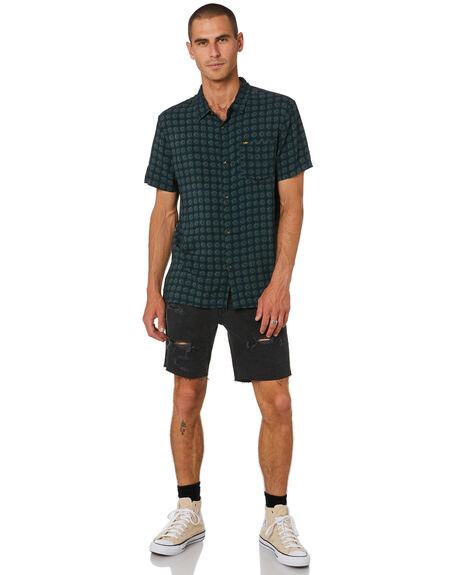 JUNGLE GREEN MENS CLOTHING LEE SHIRTS - L-602061-PL9