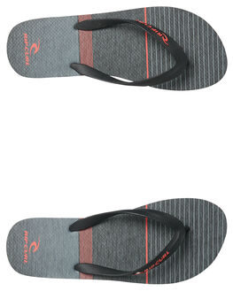 BLACK RED MENS FOOTWEAR RIP CURL THONGS - TCTA424019
