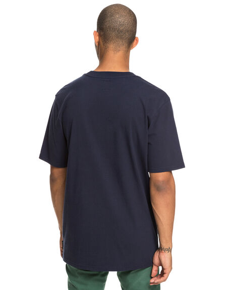 BLACK IRIS MENS CLOTHING DC SHOES TEES - UDYZT03600-BTL0