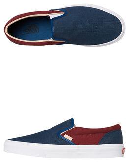 SAILOR BLUE WOMENS FOOTWEAR VANS SLIP ONS - SSVNA38F7VMNSBLUW