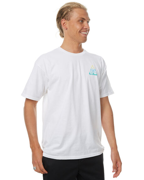 WHITE MENS CLOTHING HUF TEES - TS00063WHT