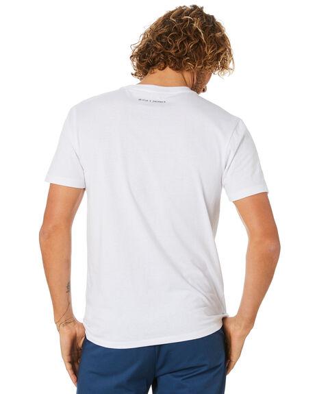 WHITE OUTLET MENS BRIXTON TEES - 16282WHITE