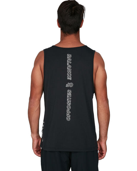 BLACK MENS CLOTHING RVCA SINGLETS - RV-R307004-BLK