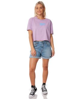POWDER PURPLE WOMENS CLOTHING RUSTY TEES - TTL0956PWP