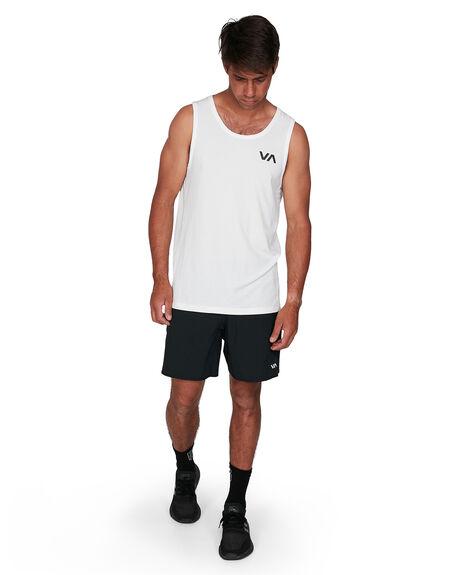 WHITE MENS CLOTHING RVCA SINGLETS - RV-R307001-WHT
