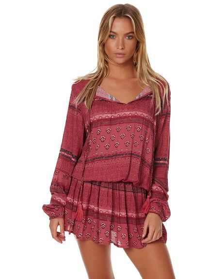 BLUSH WOMENS CLOTHING RUSTY DRESSES - DRL0841BSH