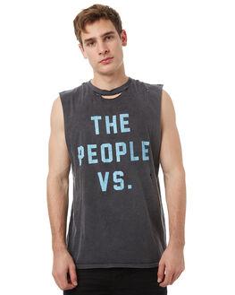 BLACK OUTLET MENS THE PEOPLE VS SINGLETS - SS17047BLK